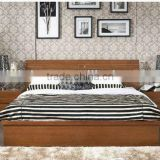 Simple Bed With Solid Wood Frame Bedroom Furniture,Southeast Style Bedroom Set W Bed Nightstand