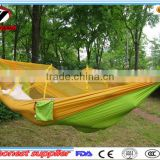 Hot Popular Amazon Wholesale Outdoor Parachute Nylon Mosquito Net Hammock- Portable Camping Hammock with Mosquito Netting