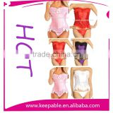 Hot Sell Body Shaper Lace Up Boned wedding wear Sexy bodyshaper corsets Matching G-string Pluz Size from XS-6XL