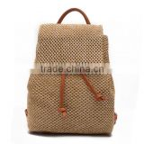zm35751a wholesale straw beach bags summer travelling backpack