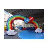 nylon PVC Rainbow Inflatable Advertising rentals With Double quadruple stitched