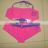 Girls new fashion cute Swimwear top and bottom