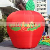 customized giant advertising red apple inflatable for decoration