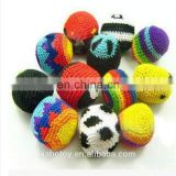 Knitting juggling balls with soccerball Volleyball Footballs - Hacky Sacks stuffed knit crochet hand made plush toy