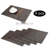 2017 Hot Selling 30*45cm Waterproof Fast Dry Placemat Heat-resisting Table Mat PVC Eat Mat 4Pcs