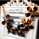 wholesale tortoise shell jewelry,tortoise shell resin flower necklace