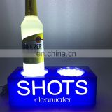 Custom Design LED Illuminated Acrylic Wine Bottle Glorifier Light Display Stand Base