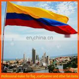 flying polyester Colombia flag