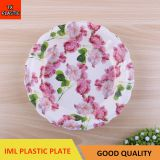 TX210 PLASTIC FLOWER DESIGN IML TRAY CHEAP SMALL PLATE