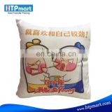 high quality heat press plain cotton pillow case,linen sublimation pillow cover for DIY