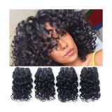 Chemical free Brazilian Curly Human Aligned Weave Hair For White Women 14inches-20inches Reusable Wash