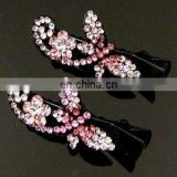 2013 newest fashion alloy colorful dragonfly rhinestone hair clip