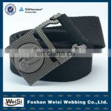 Adjustable Wide Waist Military Nylon Web Belts With Customized logo Metal Buckle