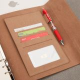2020 new 6 ring bind notebook custom a5 planner kraft diary calendar card holder logo printing notebook