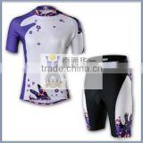custom design sublimation print bicycle jersey & pant, bicycle skin suit