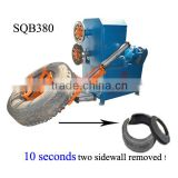 Hot! waste sidewall tire cutting machine