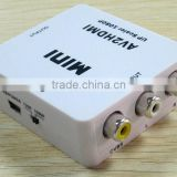 AV2HDMI MINI HDMI to CVBS/L+R Audio Converter Adapter for wholesale