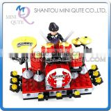 Mini Qute kid cute kawaii musical instrument drum set kit action figure plastic model building block educational toy NO.25417