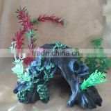 Artificial pelelith& plant aquarium accessories / ornaments