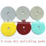 3 step diamond polishing pads for polishing granite, marble, engineer stone                                                                                                         Supplier's Choice