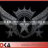 Wing stars pattern iron on crystal rhinestone heat transfers motif