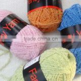 polyester chenille fancy yarn for knitting patterns scarf