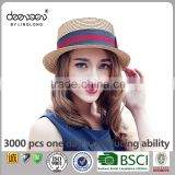 Summer Natural Wheat Straw Hat Wholesale Boater Women Straw Hat                                                                         Quality Choice