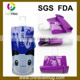 eco-frinedly BPA free portable disposable pouch and plastic collapsable drinking water bottle