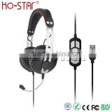Latest custom design Stylish headset high performance USB Headsets with detachable PC microphone