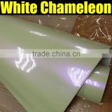 chameleon pearl white to purple txd new arrived vinyl wrap sticker super quality 1.52*20m per roll