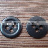12mm gun metal 4 hole button sewing coat metal button