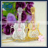 New Silver Crystal Metal Guitar Model 8GB/16GB/32GB USB 2.0 Flash Drive Pen Memory Stick