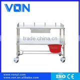 Easy Clean Medical SS. Mobile Treatment Trolley for Hospital Clinic
