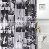 Newyork High Quality Printed Shower Curtain,Polyester Shower Curtain ,Waterproof Shower Curtain