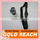 Black Heart Rate Monitor Watch & Chest Belt