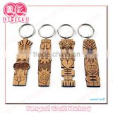 Custom engraved wood key chain tourism souvenir (Wooded craft in Laser Cut & Engaveing)