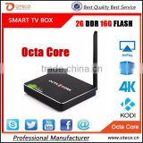 New Arrival CSA90 Andriod 5.1 Smart TV Box Octa Core RK3368 2G+16G 4K HD 2.0 with RemoteControl