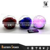 circular ball moder 2016 music mini bluetooth speaker with FM radio,LED Light, TF Card support