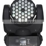 ARM 7 CPU flexible stage light 36*5w RGBW sharpy narrow beam angle 5 degree led moving head light