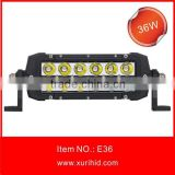 Newest XR made C R E E High lumens waterproof 12 months warranty led lamp type, 36W spot/flood/combo led light bar for vehicles
