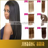 100% Brazilian remy virgin human hair weft clips in hair extensions 7pcs full head