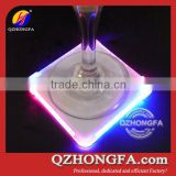 Hot Sales Square Glass LED Lighted Coaster                                                                         Quality Choice
