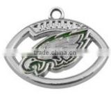 Hot NFL Charms Enamel Philadelphia Eagles Football Charms For Bracelet