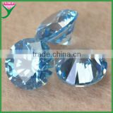 hot sale 8mm round gemstone aquamarine cz beads