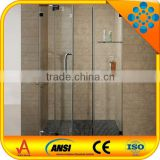 shower doors with 304 stainless steel rod and handle/hinge outward opening/frameless shower screens