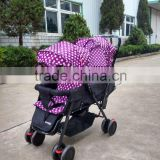 2016 hot sale new type double baby stroller with large storage
