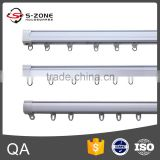 high grade pvc double curtain rail with quality curtain track