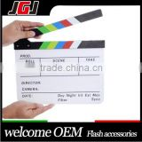 Director Video Cut Action Scene Acrylic Clapboard Dry Erase TV Film Movie Clapper Board Slate with Color Sticks(25x30cm)