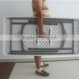 48inch rectangular plastic folding table for banquets use from China manfacture for wholesle