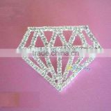 2013pageant crystal diamond shape brooch pin